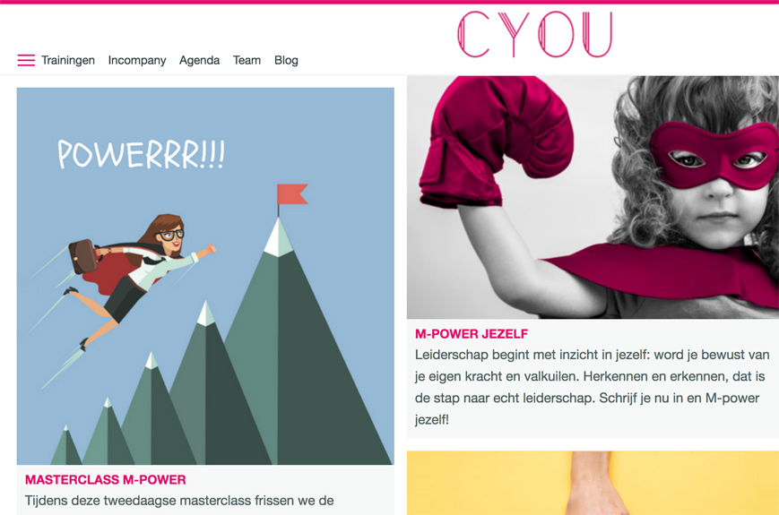 Curious You Trainingen webshop